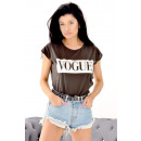 Großhandel Shirts & Tops: T-Shirt , VOGUE, Qualität, Kurzarm