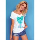 Großhandel Shirts & Tops: DE LUX T-Shirt : SPIKE HEEL, Oberteil, Dekolleté,