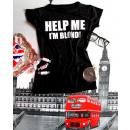 Großhandel Shirts & Tops: T-Shirt, helfen  Sie mir , ich bin blond, Größe S /