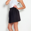 wholesale Skirts: Quilted skirt, black, sizes S, M, L