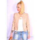 wholesale Coats & Jackets: Spring jacket,  ekoskóra, beige, S, M, L, XL