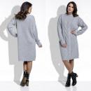 Großhandel Kleider: Kleid, warm, Wolle, Uni, Qualität, grau