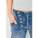 grossiste Mercerie et couture: Pantalons, jeans  boyfriendy, blanchis, boutons