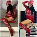 wholesale Stockings & Socks: socks long,  festive, producer, burgundy