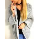 Großhandel Pullover & Sweatshirts: Strickjacke, Midi, Produzent, unisize, grau