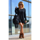 Trui, trui jurk, volant, zwart, unisize
