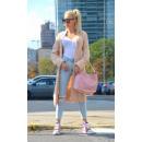 wholesale Fashion & Apparel: Sweater long coat cardigan braids powder pink