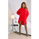 wholesale Licensed Products: Warm Poncho,  sweatshirt, DE LUX, red, uni
