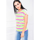 wholesale Shirts & Tops: Cotton T-Shirt, neon strips, quality