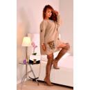 Großhandel Fashion & Accessoires: Pullover mit  Pelztaschen, Qualität, beige