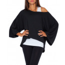 mayorista Ropa / Zapatos y Accesorios: blusa holgada, de  gran tamaño, calidad, negro, S /