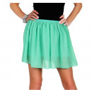 Großhandel Röcke: Minirock, luftig, Sommer, Minze, unisize