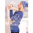 Großhandel Kopfbedeckung: Weihnachtsmütze,  Pompon, Produzent, blau