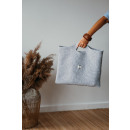 wholesale Shopping Bags: Eco hand bag, recycled yarn, gray