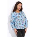 Großhandel Hemden & Blusen: Hemd, Motiv, weiblich, Qualität, blau