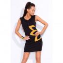 Großhandel Fashion & Accessoires: Tunika mit  Blumenkleid Hersteller, schwarz