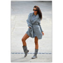 wholesale Fashion & Apparel: Sweater,  bedspread, color  gray, oversized, ...