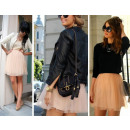 wholesale Skirts: The skirt flared  tulle, chiffon, black