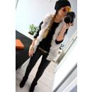 wholesale Coats & Jackets: Fur vest, warm, uni, quality, gray
