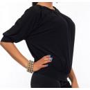 wholesale Shirts & Blouses: Blouse, black, bat, full sizes
