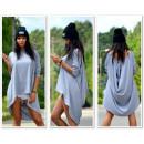 Großhandel Fashion & Accessoires: Asymmetrische Tunika, grau unisize