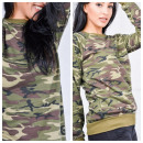 wholesale Fashion & Apparel: Soft sweatshirt, moro theme, green