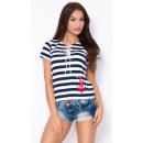 Großhandel Hemden & Blusen: Bluse mit Bindung, Produzent, marinem