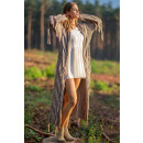 wholesale Pullover & Sweatshirts: Fringed cardigan, DE LUX, high quality, mocca