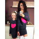 wholesale Childrens & Baby Clothing: Dress sweatshirt,  mom and baby, graphite