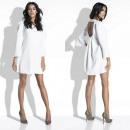 Großhandel Kleider: Kleid, Ausschnitt auf der Rückseite, Mini-Creme