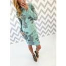 Italienisch Kleid,  Baumwolltunika, Minze, unisize