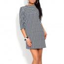 Großhandel Kleider: Kleid w pepitkę, kobieca, klasyczna S / ML / XL