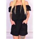 wholesale Fashion & Mode: Coverall short, lace, black, unisize