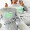 wholesale Childrens & Baby Clothing: Baby Hood, heart, gray, mint