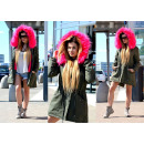 wholesale Coats & Jackets: Hit fur parka  jacket khaki roses bestseller heat