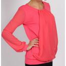 groothandel Kleding & Fashion: Chiffon blouse,  koraal, groot formaat, L XL XXL