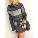 Großhandel Fashion & Accessoires: Mantel swetrowy,  Kühlergrill, unisize grau