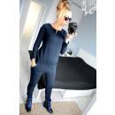 wholesale Trousers: The suit dresowy long, uni, navy
