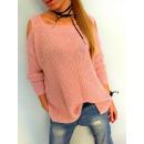 Großhandel Fashion & Accessoires: Pullover Arme,  Nachrichten, Produzent, rosa