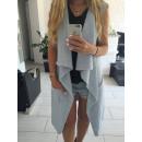 Vest, Unterhemd, Pullover, Mantel, blau
