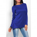 wholesale Shirts & Blouses: Asymmetrical blouse, high quality, cornflower