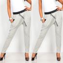 Großhandel Sportbekleidung: Hose mit Reißverschluss, tracksuits, grau ...
