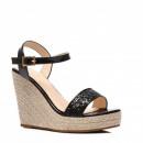 Scarpe, sandali con zeppa, scarpe, nere