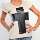 ingrosso T-shirts & Tops: T-Shirt con una  croce, camicetta, beige, unisize