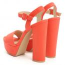 Großhandel Schuhe: Schuhe, Sandalen, Reck, orange