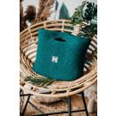 wholesale Shopping Bags: Eco bag, handheld, recycled yarn, green