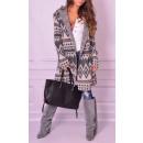 wholesale Coats & Jackets: Coat with hood,  sweater, gray - white, unisize