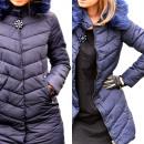 Großhandel Fashion & Accessoires: Jacke, Mantel,  Blume, Kapuze, dunkelblau