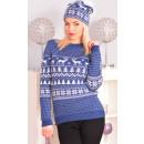 Sweater Weihnachten, Hersteller, uni, blau