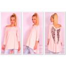 wholesale Shirts & Blouses: Tunic asymmetrical  wings, powder pink, uni